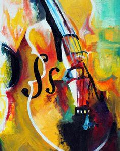 Laura Laurent Cello Painting