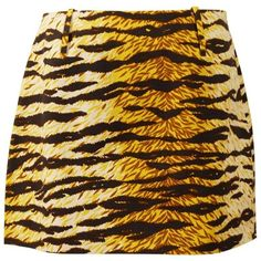 Preowned Dolce & Gabbana D&g Animal Print Mini Skirt (9,335 INR) ❤ liked on Polyvore featuring skirts, mini skirts, brown, print mini skirt, animal print mini skirt, cotton short skirts, animal print skirt and dolce gabbana skirt