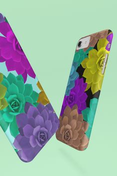 If you've broken your old phone case, then it's the ideal time for a new look. Or, maybe you are just bored with your old case. Then, simply hide it until the next season, and switch it up for this amazing cactus flower phone case. Samsung Cases, Iphone Cases, Old Phone, Cactus Flower, Amazing, Floral, Flowers, Iphone Case, Royal Icing Flowers