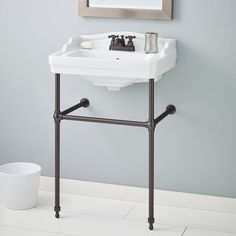 """Essex 24"""" Console Bathroom Sink with Overflow"""