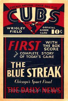 Chicago Cubs 1930 Scorecard