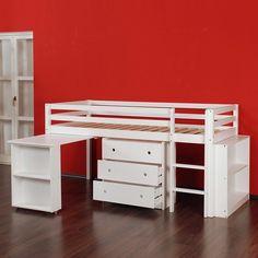 Hochbett Mit Schreibtisch + Regal + Kommode