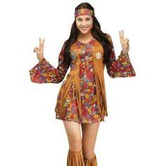 Sexy Retro Hippie Womens 60s 70s Halloween Costume