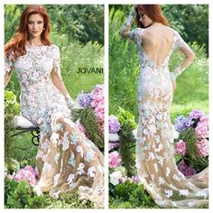 Check out this new Jovani floral lace gown. Perfect for Spring! Now available at Mia Bella! Mia Bella Couture. California Glam. Jovani. Jovani Fashions. Spring Dress. Beautiful. Gorgeous. Must Have. Dress Up. Fashion. Style. Glam.
