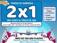 2x1 #viajes todo incluido reserva antes 13/02 y viaja del 01/05 al 15/06 http://bit.ly/A7xun0 http://yfrog.com/nws24g