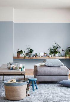 Inspiratie: interieurs met een blauwe muur - Alles om van je huis je Thuis te maken | HomeDeco.nl