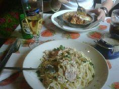 la spaghettata Durham Restaurants, Meat, Chicken, Ethnic Recipes, Food, Meals, Cubs