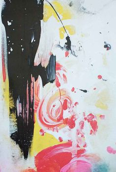 Black Honey Abstract canvas print from Lindsay Letters.