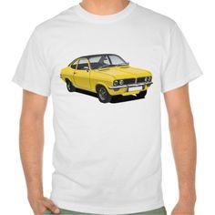 Shop Vauxhall Firenza yellow, black roof T-Shirt created by knappidesign. 50th Birthday, Birthday Shirts, Retro Graphic Design, New T, Yellow Black, Hoodies, Sweatshirts, Fitness Models, Mens Tops