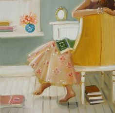 I am smitten with Janet Hill's artwork.