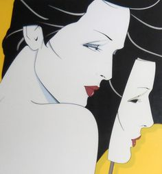 Diptych 1983 Serigraph by Patrick Nagel From the edition of 250 Patrick Nagel, Simon Bisley, Nagel Art, Illustrations And Posters, Portrait Art, Portraits, Print Artist, American Artists, Sculpture Art