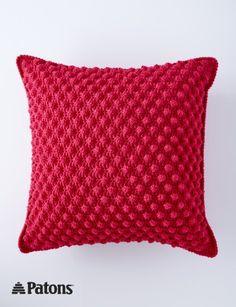 Patons Bobble-licious Pillows, Crochet Pattern  | Yarnspirations