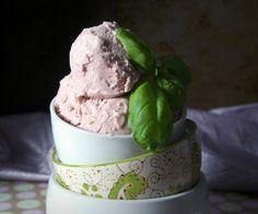 Balsamic Strawberry and Basil Dairy-Free Ice Cream Recipe {Paleo, Vegan, Gluten-Free, Refined Sugar-Free}