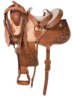 Premium Barrel Racing Western Horse Saddle Tack 14 16