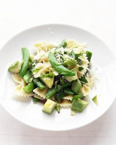 """See the """"Asparagus, Snap Pea, and Avocado Pasta"""" in our Beyond Smashing: Avocado Recipes for Every Meal gallery"""