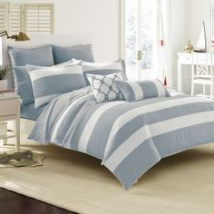 Southern Tide Breakwater Bedding Collection Comforter Sets. Really beautiful colours for Lake or Beach house.