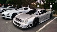 Benz Parking Only. RT @GTspirit: Kicking off #MercedesMonday with the CLK GTR and the SLS AMG Black Series.