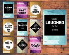 Baby Milestone Cards Digital/Download/Printable by VandaBabyCards