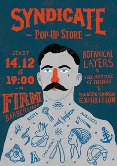 SNDCT pop-up stores posters by Anton Abo, via Behance