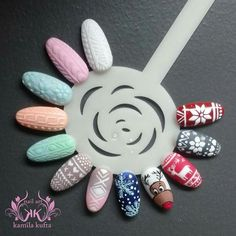Holiday Nail Designs, Holiday Nail Art, Winter Nail Art, Christmas Nail Art, Sassy Nails, Cute Nails, Pretty Nails, Chistmas Nails, Xmas Nails