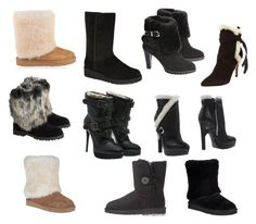 """""""My favorite shearling boots"""" by veronababy on Polyvore featuring UGG, Schutz, Alexander McQueen, UGG Australia, Overland Sheepskin Co. and Burberry"""