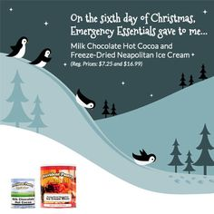 Emergency Essentials' 12 Days of Giveaways--Day 6: Hot Cocoa and Freeze Dried Ice Cream