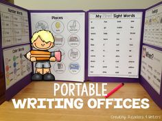 Planning In Paradise: Use portable writing offices to foster independence during writing workshop. #writing #spelling