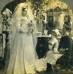 Stereoview Photo Victorian Bride