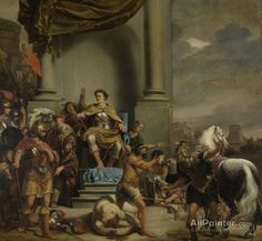Ferdinand Bol,Consul Titus Manlius Torquatus Orders The Beheading Of His Son oil painting reproductions for sale