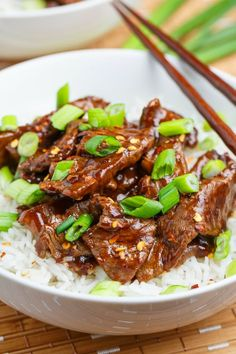 Mongolian Beef by Closet Cooking. Tender stir-fried beef in a tasty sauce.