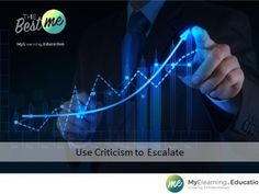 Use Criticism to Escalate Find out how with MyElearning. Education, Teaching, Onderwijs, Learning