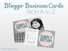 Business Cards: A to Z of Business Cards for Bloggers