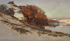 Edward Harrison Compton Early Snow, Westmorlan, Cumbria, Oil on canvas, cm x cm at the Cheltenham Art Gallery & Museum Paintings I Love, Your Paintings, Beautiful Paintings, Winter Landscape, Landscape Art, Landscape Paintings, Painting Snow, Traditional Paintings, Art Uk