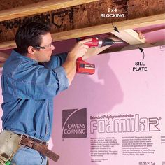 Basement Finishing: How to Finish, Frame, and Insulate a Basement (DIY) Insulating Basement Walls, Framing Basement Walls, Basement Insulation, Basement Windows, Basement Flooring, Basement Ceilings, Basement Waterproofing, Flooring Tiles, Drywall Ceiling