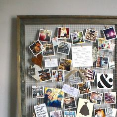 11 oh so pretty ways to repurpose old picture frames collage diy inspiration mood board use an old picture frame to create a mood board perfect for displaying snippets of inspiration solutioingenieria Images