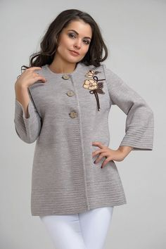 Ladies Cardigan Knitting Patterns, Crochet Cardigan Pattern, Sweater Knitting Patterns, Knitting Designs, Knit Cardigan, Knit Crochet, Pullover Design, Sweater Design, Tricot Simple