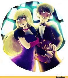 Dipper x pacifica. I don't ship it, but it's still an awesome pic ^-^