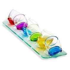 Shots Moondance. Shots Moondance. Divertido set de 6 shots de vidrio con un diseño novedoso y original. Set con 6 piezas en diferentes colores.