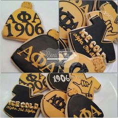 Alpha Phi Alpha cookies Alpha Phi Alpha, Alpha Male, Black Fraternities, Divine Nine, 40th Birthday Parties, Sorority And Fraternity, Fire And Ice, Sports Party, Greek Life