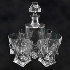 """SHOP-PARADISE.COM:  Whisky-Set """"Quadro"""", Karaffe und 6 Gläser 62,18 €"""