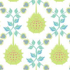Horseshoe crab damask-small fabric by lbishop on Spoonflower - custom fabric