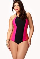 $27.80 Colorblocked Halter Swimsuit