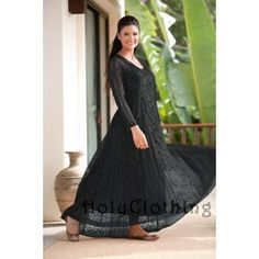 Tamara Gothic Godet Vtg Victorian Floral Lace Dress w/ Lining
