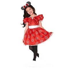 MiNNiE MoUsE~Limited Edition~RhiNeStOnE Costume+Gloves~NWT~Disney Store #DisneyStore #CompleteCostumeGloves