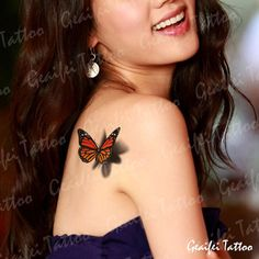 3d butterfly tattoos for women | -women-temporary-3d-cool-butterfly-tattoo-stickers-water-proof-3D ...