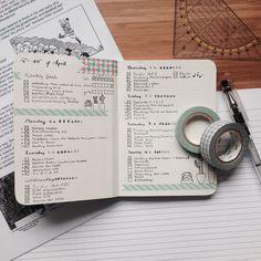 bullet journal spread