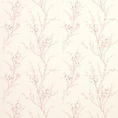 Laura Ashley Pussy Willow Cyclamen Floral Wallpaper