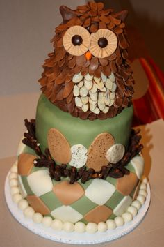 Owl Cake ~ Pinned by Federal Financial Group LLC #FederalFinancialGroupLLC #desserts ffg2.com facebook.com/...