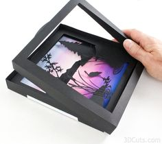 Heron Cove Shadow box Tutorial by Marji Roy of 3dcuts.com. Cutting files in svg…