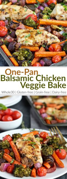 One-Pan Balsamic Chicken | gluten-free dinner recipes | dairy-free dinner recipes | whole30 dinner recipes | whole30 chicken recipes | healthy dinner recipes | easy dinner recipes || The Real Food Dietitians #whole30dinner #whole30recipe #healthydinner